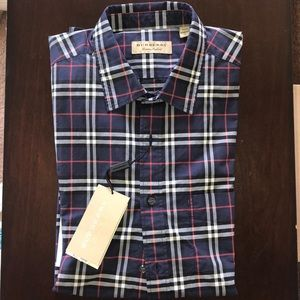 Burberry Men's Long Sleeve Dress Shirt XL